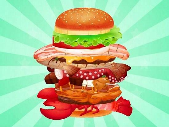ハンバーガーの完成