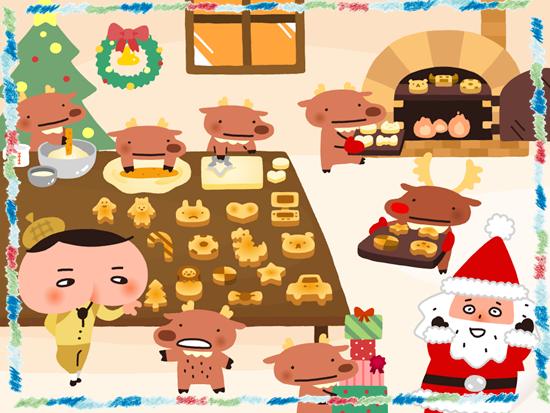 サンタさんのクッキー作り